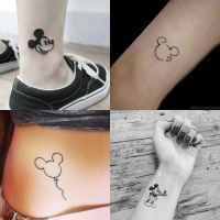 Tatuagens delicadas da Disney