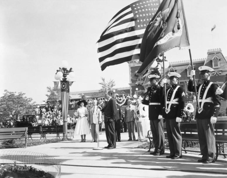 Disneyland opening Day Dedication July 17, 1955 Walt Disney photo(c)Disney
