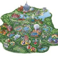 Onde encontrar o mapa dos parques de Orlando?